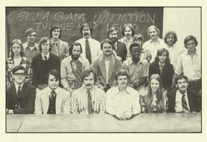 1973 SGE initiation with Tulane geology students