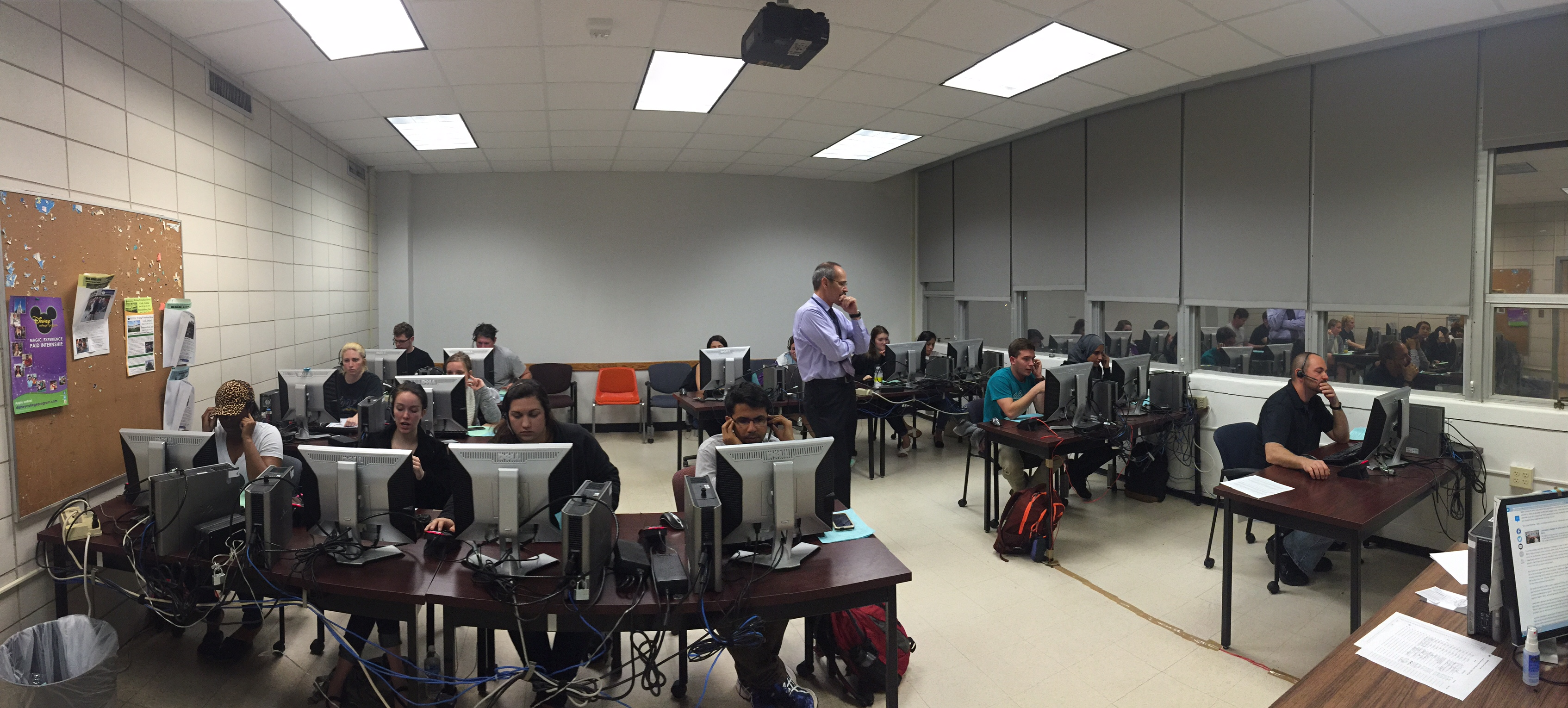 A class taking place inside of Milneburg Hall