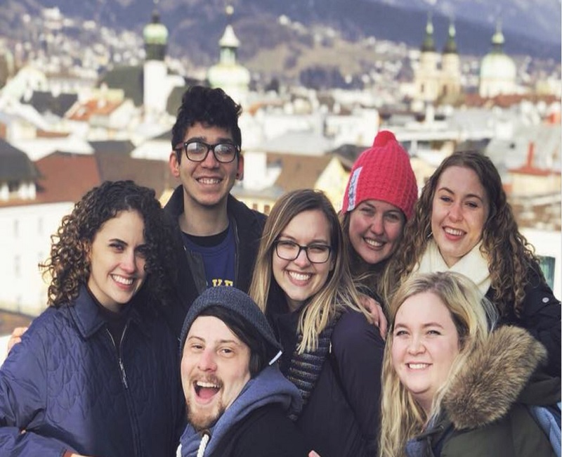 group of students in austria