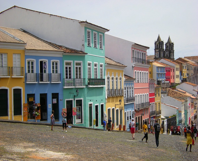 An image of the streets of Salvador City in Brazil