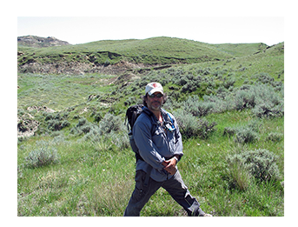 David Burnham near Hell Creek Formation