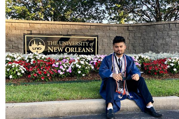 ​University of New Orleans graduate Prerak Chapagain has been awarded a Phi Kappa Phi Fellowship from the prestigious college honor society. ​