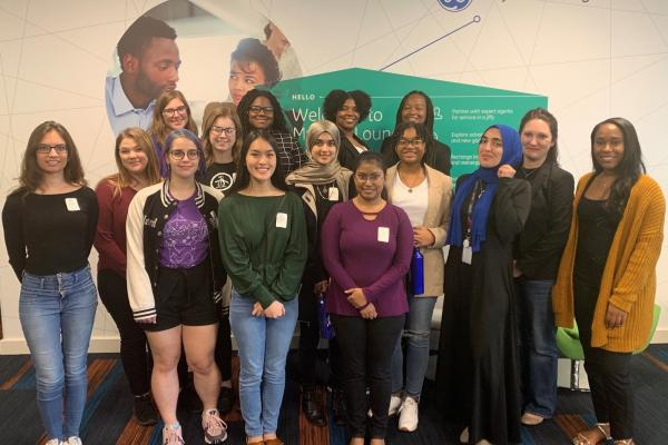 Some members of the Association of Computing Machinery Women's Chapter participated in a professional development workshop at General Electric's New Orleans office.