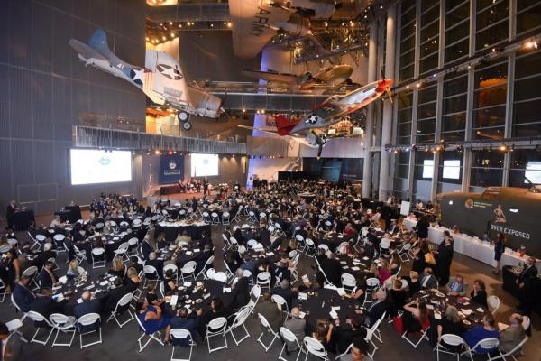 The Distinguished Alumni Gala was held at The National WWII Museum's Freedom Pavilion