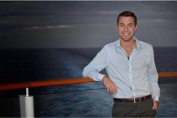 "Alum Justin Champion sailing in the Caribbean on board the ""Norwegian Getaway"" from Miami to Jamaica."