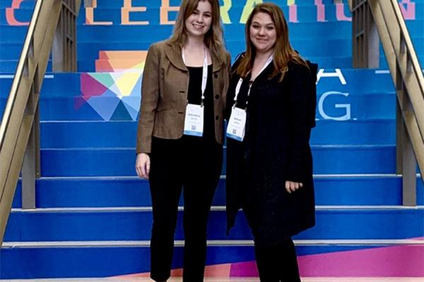 Students Ashley Bayer and Veronica Spicer have been awarded a computer science scholarship founded by University of New Orleans alumna Sabrina Farmer.