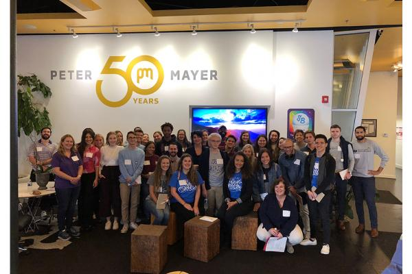 Marketing and advertising students from the University of New Orleans at Peter Mayer Advertising Agency