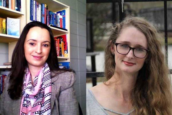 Doctoral student Anabel Mifsud (left) and master's student Jessica Coalson won 2 of 4 grand prizes for essays submitted to the American Counseling Association's 2019 national awards competition.