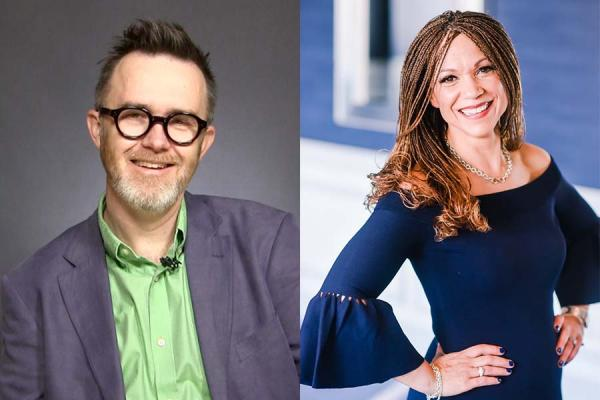 Rod Dreher (left) and Melissa Harris-Perry will visit the University of New Orleans March 14 for a discussion about the future of political discourse.