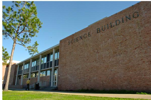 The front of the Science Building