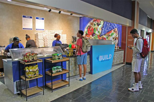 BUILD Pizza, which offers customizable, personal pizzas, is now operating in the University Center. It is one of many new campus dining options in the works.