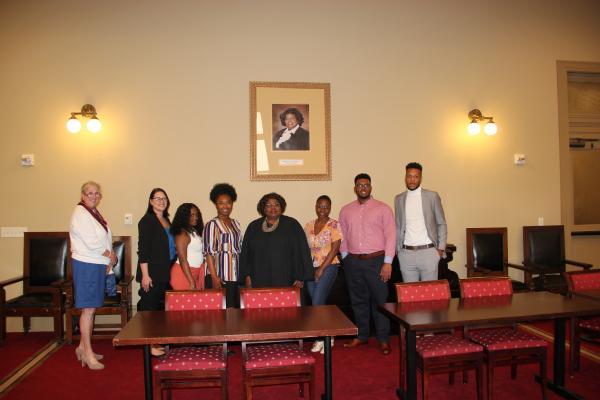 Students in University of New Orleans management professor Dinah Payne's class met Chief Justice Bernette Johnson and heard  arguments before the Louisiana Supreme Court related to a tax case they've studied in their Legal Environment of Business course.