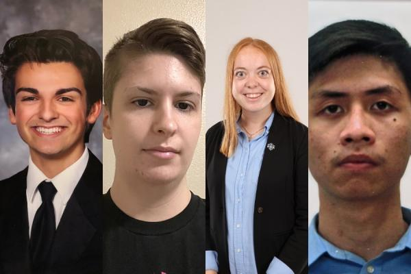 University of New Orleans engineering students selected to receive American Bureau of Shipping scholarship are (from left): Gerard Gerarve III, Mara E. Kramer, Abigail J. Blink and Nhan Tran.