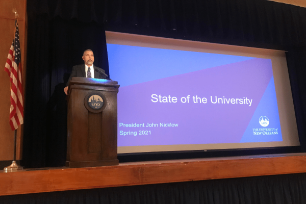 President Nicklow Sends Message of Gratitude and Optimism During Spring State of the University Address