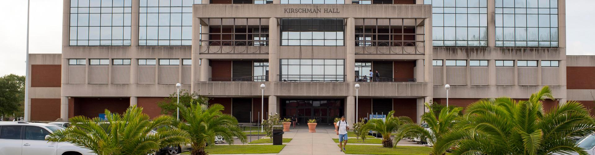 The front of the Kirschman Hall